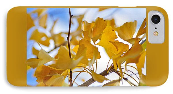 Golden Autumn IPhone Case by Kaye Menner