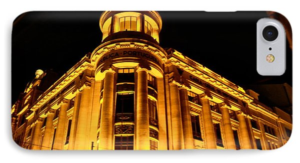 IPhone Case featuring the photograph Golden Building At Night by Kirsten Giving