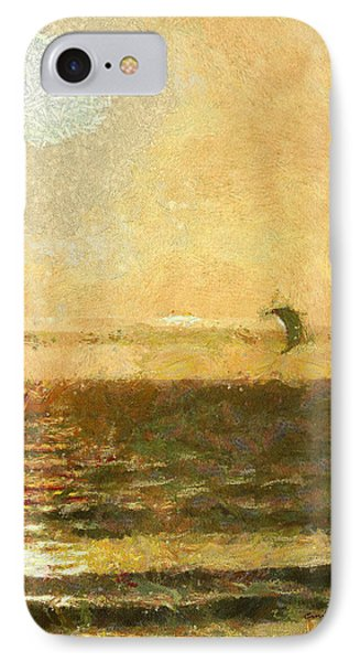 Golden Day Painterly IPhone Case by Ernie Echols