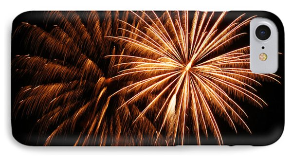 Golden Firework IPhone Case by Tyra  OBryant