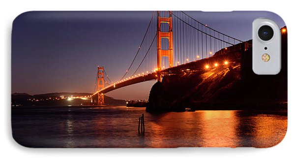 Golden Gate Bridge At Night 2 Phone Case by Bob Christopher