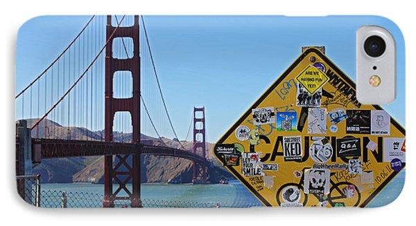 Golden Gate Stickers Phone Case by Cedric Darrigrand