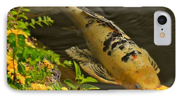 IPhone Case featuring the photograph Golden Koi by Kirsten Giving