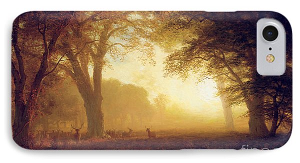 Golden Light Of California IPhone Case by Albert Bierstadt