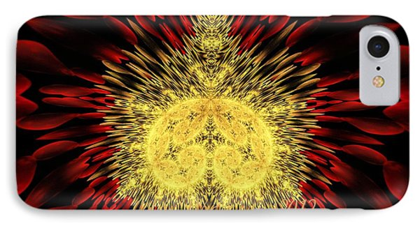 IPhone Case featuring the photograph Golden Mandelbrot by Lea Wiggins