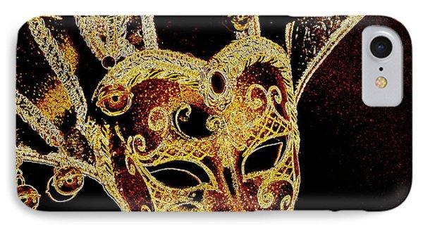 Golden Mask IPhone Case by Lori Seaman