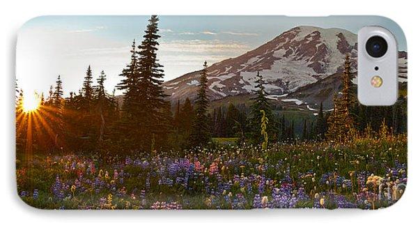 Golden Meadows Of Wildflowers Phone Case by Mike Reid