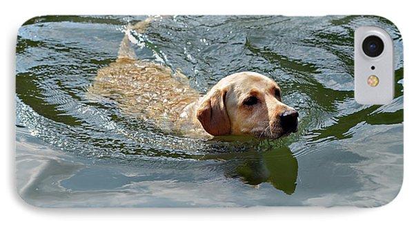 Golden Retriever Swimming Phone Case by Susan Leggett