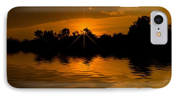 IPhone Case featuring the photograph Golden Sunrise by Cindy Haggerty