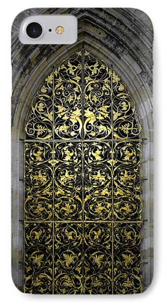 Golden Window - St Vitus Cathedral Prague Phone Case by Christine Till