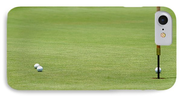 Golf Balls Near Flagstick Phone Case by Henrik Lehnerer