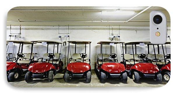 Golf Cart Parking Garage Phone Case by Skip Nall