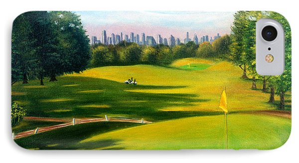 Golf Course At Forest Park IPhone Case