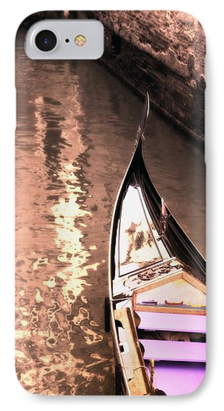 Gondola In The Canal Venice Italy IPhone Case by Carson Ganci
