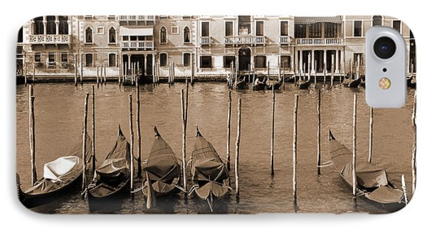 IPhone Case featuring the photograph Gondolas Outside Salute by Donna Corless