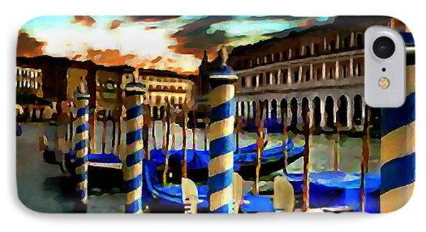 Gondolas Under A Summer Sunset IPhone Case