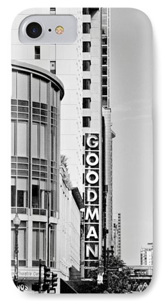 Goodman Theatre Center Chicago Phone Case by Christine Till