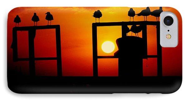 Goodnight Gulls Phone Case by Karen Wiles
