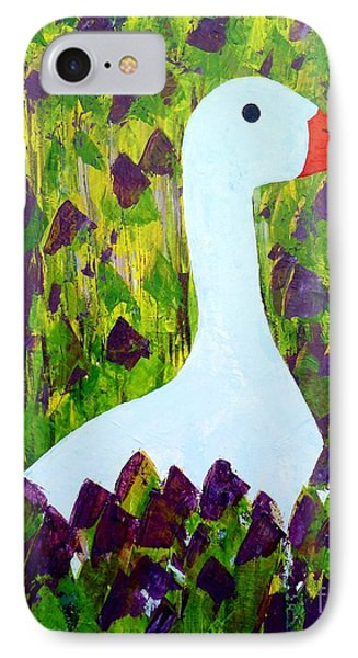 IPhone Case featuring the painting Goose by Barbara Moignard