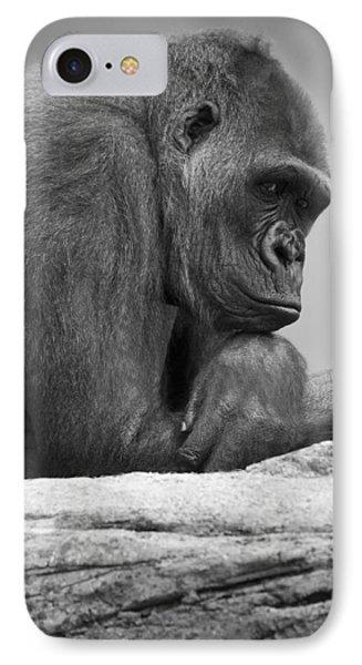 Gorilla Portrait Phone Case by Darren Greenwood
