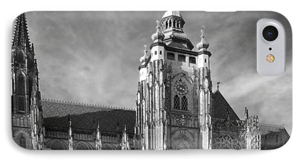 Gothic Saint Vitus Cathedral In Prague Phone Case by Christine Till
