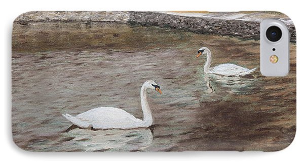 Graceful Swimmers IPhone Case by Alan Mager