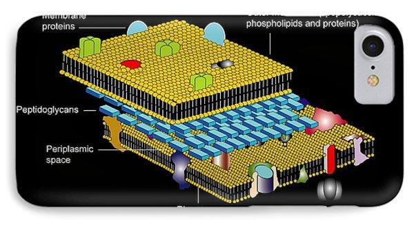 Gram Negative Cell Wall, Artwork Phone Case by Francis Leroy, Biocosmos