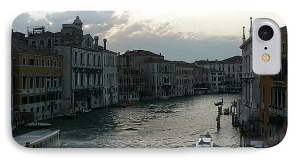 IPhone Case featuring the photograph Grand Canal At Dusk by Laurel Best
