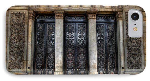 Grand Door - Leeds Town Hall Phone Case by Yhun Suarez