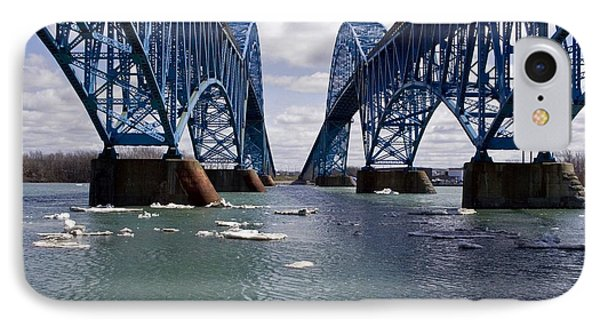 IPhone Case featuring the photograph Grand Island Bridges by Darleen Stry