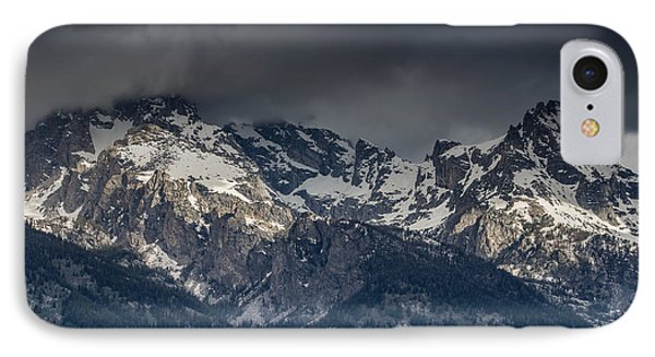 Grand Tetons Immersed In Clouds Phone Case by Greg Nyquist