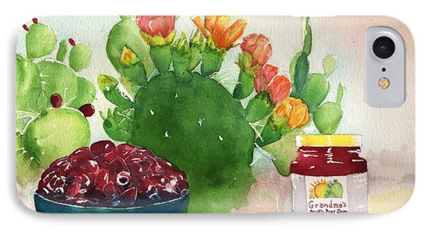 Grandmas Prickly Pear Jam IPhone Case by Sharon Mick