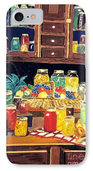 IPhone Case featuring the painting Granny's Cupboard by Julie Brugh Riffey