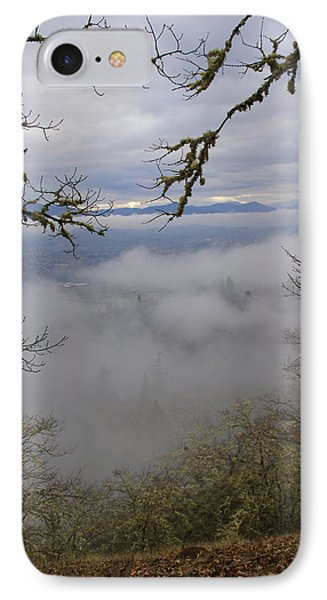 IPhone Case featuring the photograph Grants Pass In The Fog by Mick Anderson