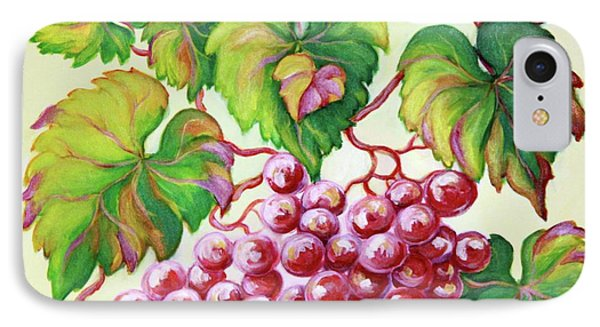 IPhone Case featuring the painting Grape Study 2 by Inese Poga