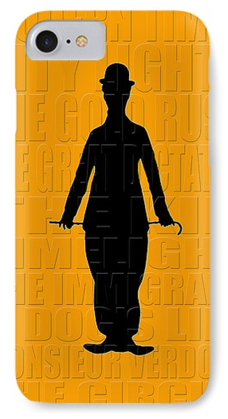 Graphic Chaplin Phone Case by Andrew Fare