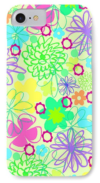 Graphic Flowers Phone Case by Louisa Knight