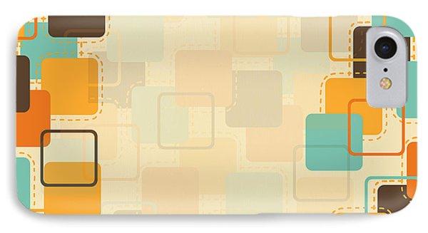 Graphic Square Pattern IPhone Case by Setsiri Silapasuwanchai