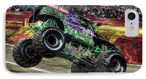 Grave Digger At Ford Field Detroit Mi Phone Case by Nicholas  Grunas