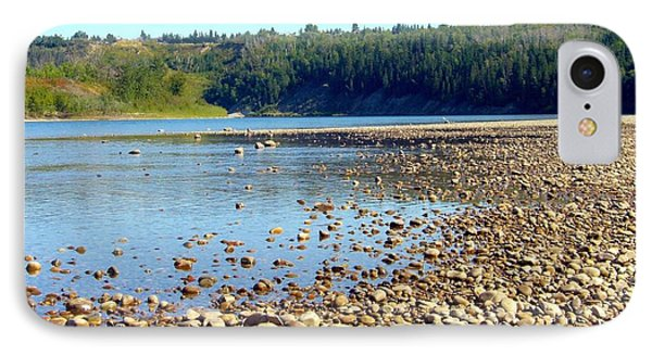 IPhone Case featuring the photograph Gravel Bar On The North Saskatchewan River by Jim Sauchyn