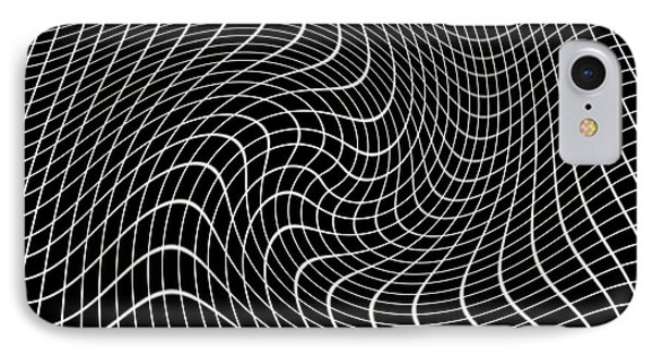 Gravity Waves In Space-time, Artwork Phone Case by Victor De Schwanberg