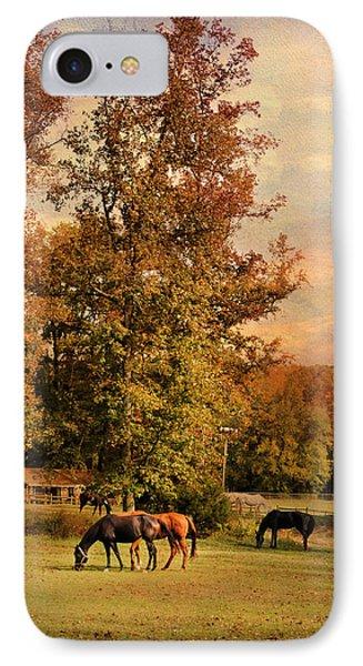 Grazing In Autumn Phone Case by Jai Johnson