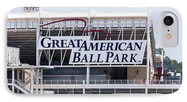 Great American Ball Park Sign In Cincinnati Phone Case by Paul Velgos