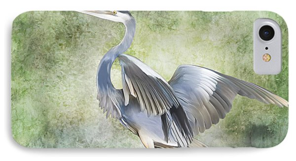 Great Blue Heron IPhone Case by Francesa Miller