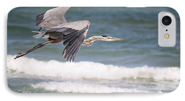 Great Blue Heron In Flight IPhone Case by Roena King