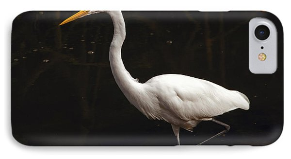 IPhone Case featuring the photograph Great Egret Hunting by Art Whitton