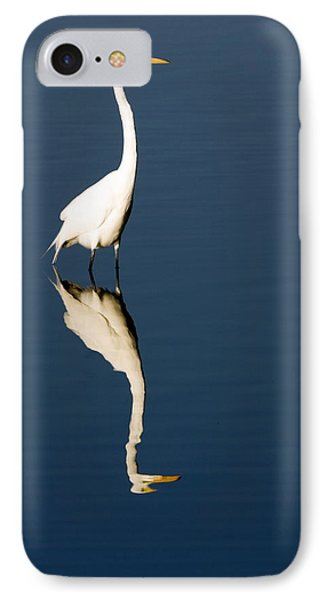 Great Egret Reflected Phone Case by Sally Weigand