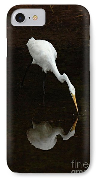Great Egret Reflection Phone Case by Bob Christopher