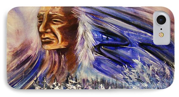 IPhone Case featuring the painting Great Father - Winter by Karen  Ferrand Carroll