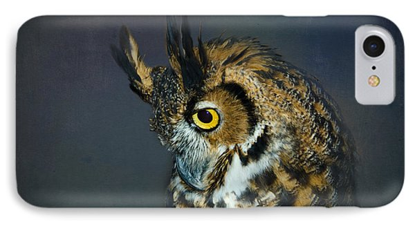 Great Horned Owl IPhone Case by Betty LaRue